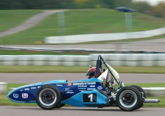 Members of U of T's Formula SAE team are involved in every aspect of building a race car, from initial design through manufacturing, prototyping, physical testing and development
