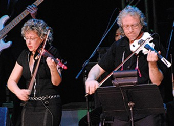 Angela Cox-Daly and Ross Daly performing at Roy Thomson Hall in Toronto, in 2008