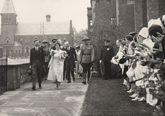 King George VI and Queen Elizabeth at U of T