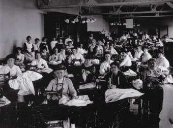 Sewing for Solidarity. Photo: U of T Archives A1965-0004 [140.85]