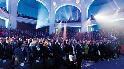 More than 800 members of the U of T community filled Convocation Hall on Nov. 20, 2011, for the official public launch of the Campaign for the University of Toronto