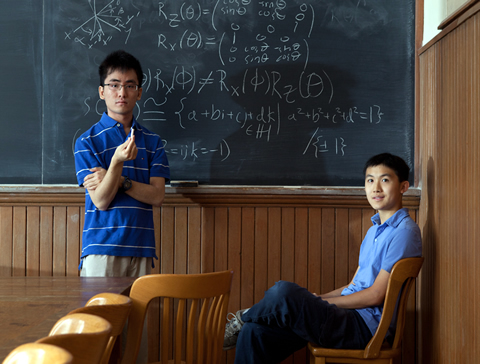 Math students Keith Ng (left) and Jonathan Zung will represent U of T at the Putnam Math Competition this year (along with Alexander Remorov).