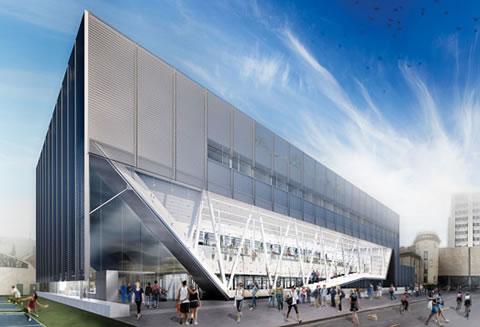 Artist rendering of the Goldring Centre for High Performance Sport
