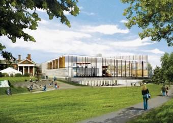 Artist rendering of new law building
