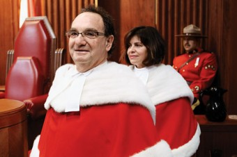 Supreme Court justices Michael Moldaver (BA 1968 UC, LLB 1971) and Andromache Karakatsanis (BA 1978 Vic)