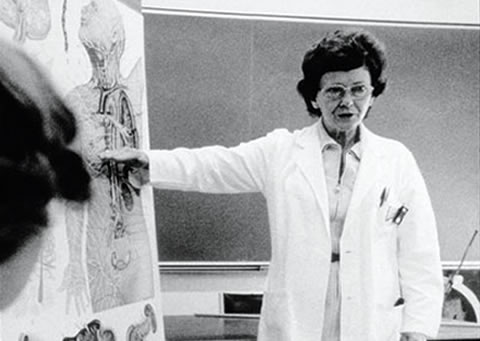 Prof. Vera Peters teaching at U of T in the 60s