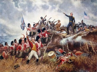 A scene from the Battle of New Orleans, fought in January 1815. It was the last major battle of the War of !812.