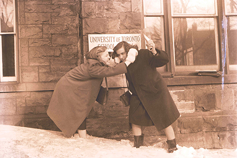 Babs Flint and Pat Teney. Courtesy of U of T Archives