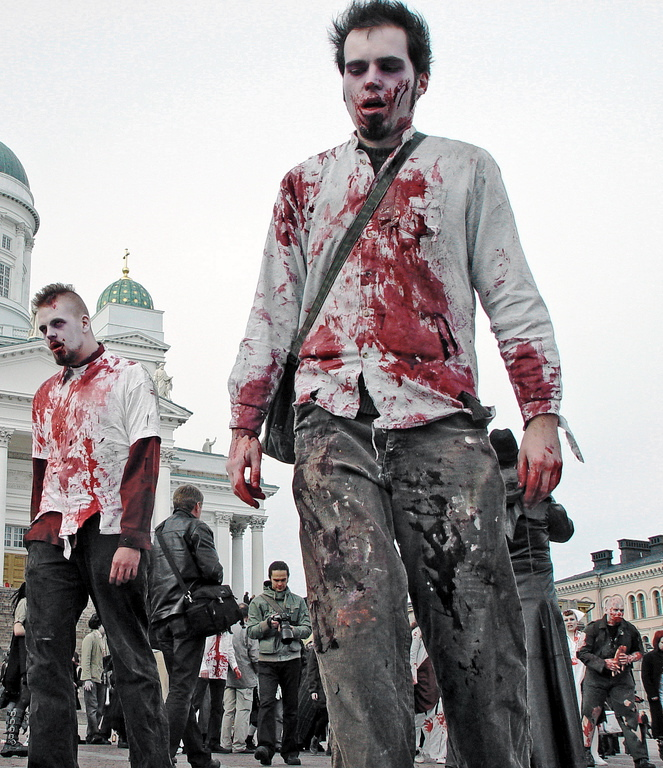 Photograph of zombies