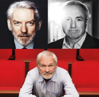 Donald Sutherland, Lorne Michaels and Norman Jewison