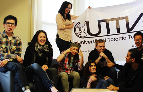 The UTTV crew, Ana Sani is fifth from left.