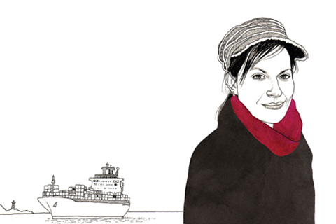 Deborah Cowen. Illustration by Adam Cruft