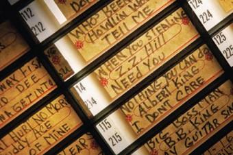 Photo of a juke box catalogue.