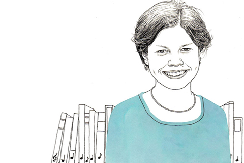 Katherine Larson. Illustration by Adam Cruft