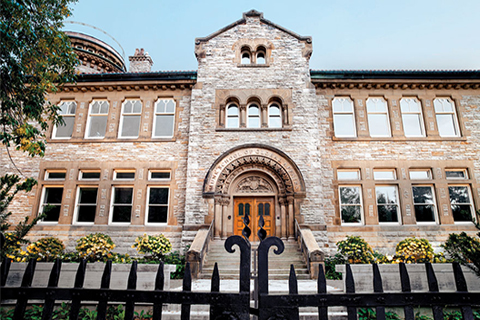 Photo of the Munk School building.