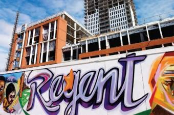 "Photo of Regent Park, Toronto - street art says ""Regent"""
