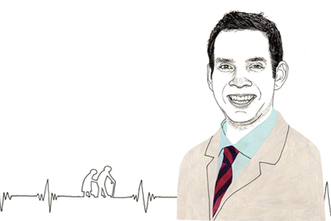 Samir Sinha. Illustration by Adam Cruft