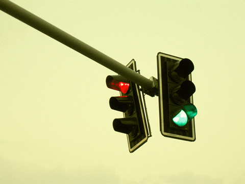 Photo of traffic lights.