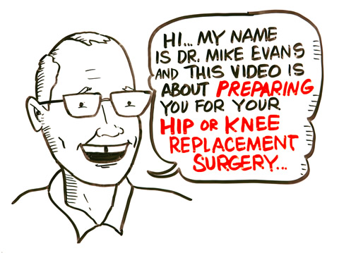 Illustration of Mike Evans with speech bubble: