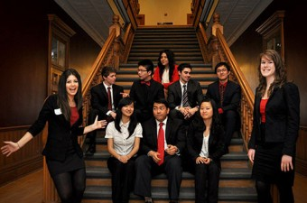 John Paul de Silva and the student consultants of Social Focus Consulting