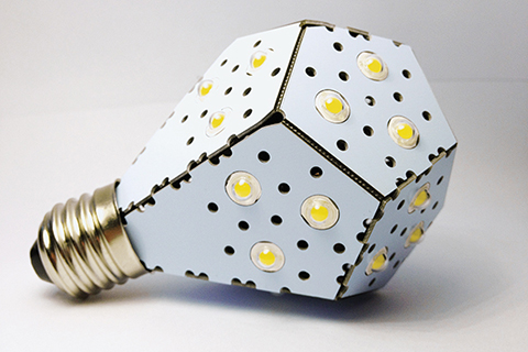Photo of NanoLeaf light bulb.