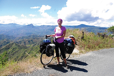 Photo of Ali Burke in southern Ecuador.