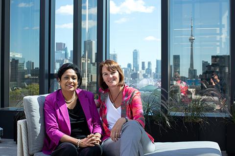 Geeta Sheker (left) and Beatrix Dart
