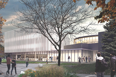 Artists rendering of U of T Mississauga's Innovation Complex.