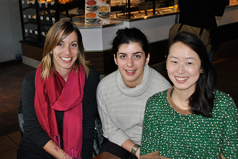 From left: Co-founders Marianne Touchie and Ekaterina Tzekova, and chair of the Promise group, Diane Park