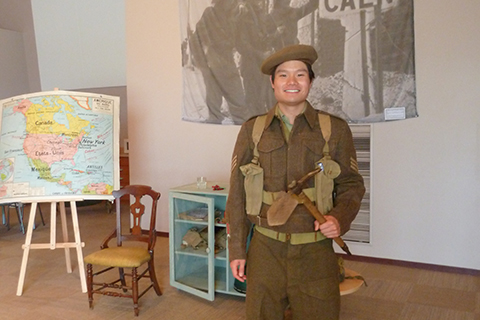 Photo of Taylor Lew at Juno Beach Centre.
