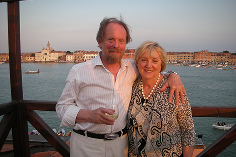 Photo of Francesca Valente and Branko Gorjup.