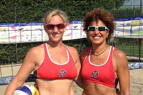 Laura Inward (left) and teammate Wanda Guenette in Torino in 2013.