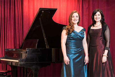 Photo - Maureen Batt (left) and Erin Bardua simply love opera.