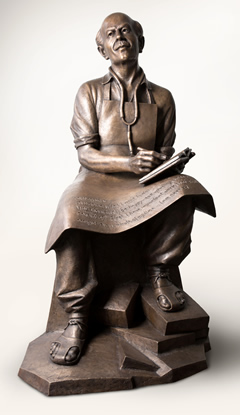 Sculpture of Norman Bethune.