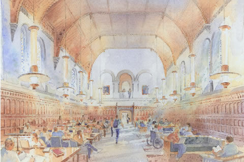Illustration of University College upcoming renovations.