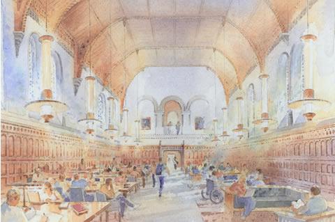 Illustration of University College upcoming renovations.