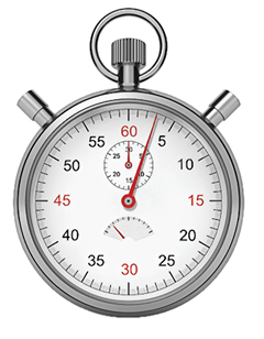 Photo of a stopwatch.