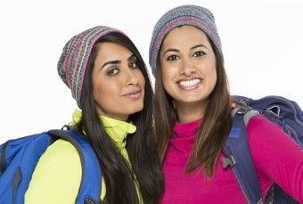 Shahla Kara and Nabeela Barday (right) compete on The Amazing Race Canada. Photo courtesy of CTV