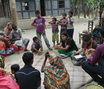 Shahreen Reza explains how here water filter works in Matlab, Bangladesh.