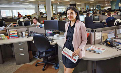 Anna Nicolaou shared her financial expertise with The Globe and Mail's newsroom
