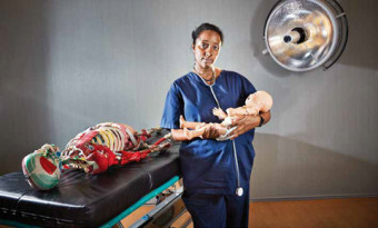 Dr. Tihitena Negussie Mammo in Mount Sinai Hospital's Surgical Skills Centre
