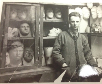 Frederick Coates in his studio