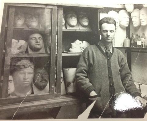 Frederick Coates in his studio