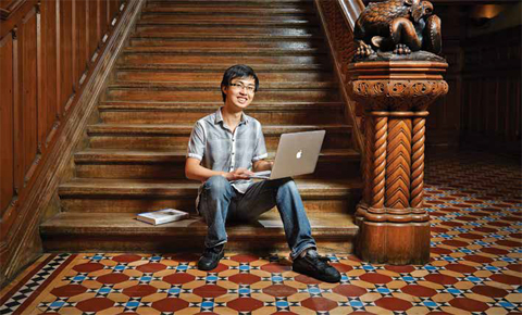 University College student James Yuan is happy to focus full-time on his studies.