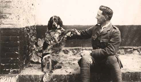 Photo of John McRae and Bonneau the dog.