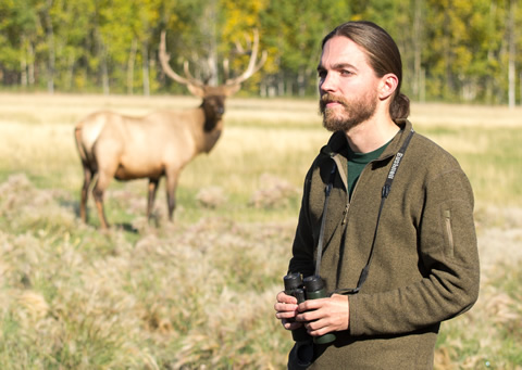 Jake Paleczny at the Yukon Wildlife Preserve, near Whitehorse