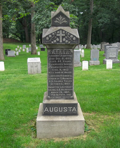Dr. Augusta's tombstone at Arlington National Cemetery. Photo: Arlington Cemetery