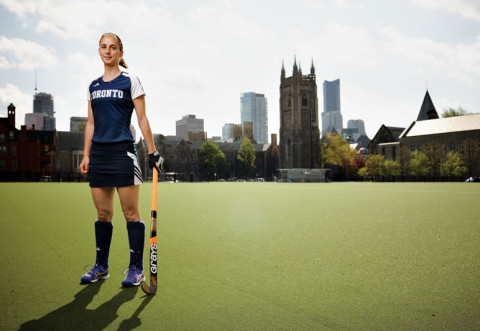 Field hockey player Amanda Woodcroft. Photo by Sandy Nicholson.