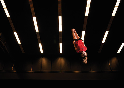Trampolinist Rosie MacLennan. Photo by Sandy Nicholson.