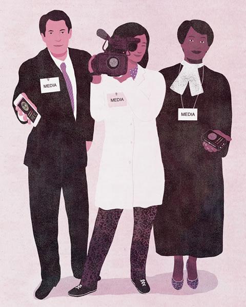 Illustration of journalists.